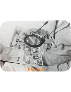 Lengthwise led magnifying glass