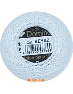 DOMINO COTTON PERLE 12 Domino Koton Perle Beyaz (No:12)