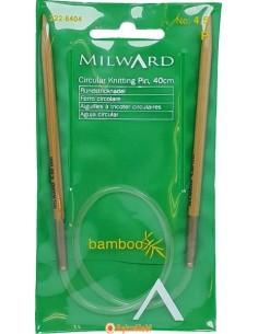 NILWARD 40 cm BAMBOO Circular Knitting Pin Milward 40 cm Bamboo Circular Knitting Pins 4.5 mm