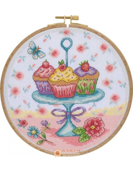 Tuva Cross Stitch Kit With Wooden Hoop CCS02