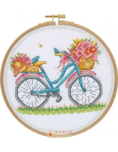 Tuva Cross Stitch Kit With Wooden Hoop CCS01