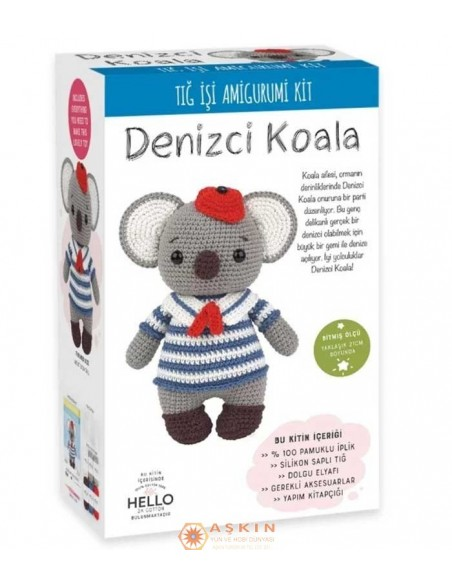 Crocheted Amigurumi Toys CROCHET WORK AMIGURUMI TOY KIT COCOLA THE KOALA