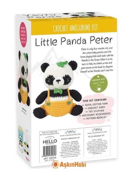 CROCHET WORK AMIGURUMI TOY KIT LITTLE PANDA PETER