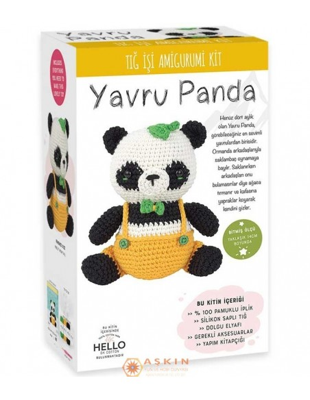 CROCHET WORK AMIGURUMI TOY KIT LITTLE PANDA PETER