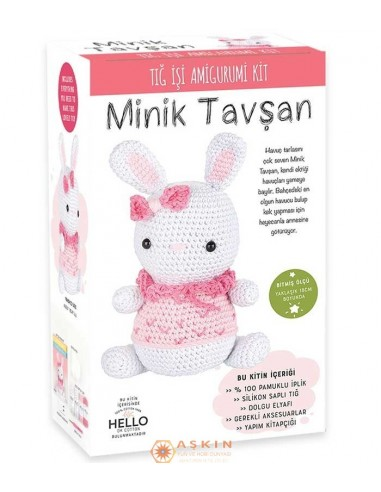 CROCHET WORK AMIGURUMI TOY KIT LITTLE BUNNY SUZY