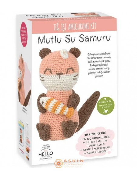 CROCHET WORK AMIGURUMI TOY KIT LITTLE LULU OTTER