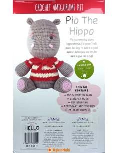 Crocheted Amigurumi Toys Crochet Work Amigurumi Toy Pio The Hippo