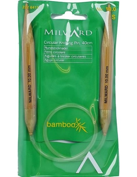 NILWARD 40 cm BAMBOO Circular Knitting Pin